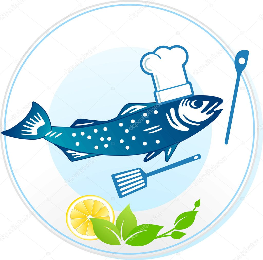 Fish and seafood restaurant  Stock Vector #3397750