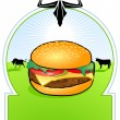 Bio Hamburger — Stock Vector #3404217