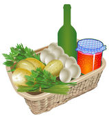 Farm organic food — Stock Vector