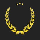 Golden crest — Stock Vector