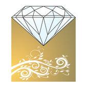 Diamond and gold — Stock Vector