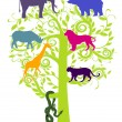 Sanctuary for animals — Stock Vector