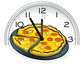 Pizza service — Stock Vector