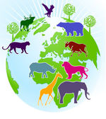 World zoo — Stock Vector