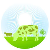 Greening cow — Stock Vector
