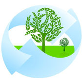 Green nature protection and landscape — Stock Vector