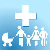 Family clinic — Stock Vector