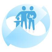 Family affairs — Stock Vector