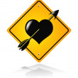 Traffic road heart sign — Stock Vector #3556836