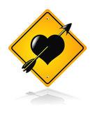 Traffic road heart sign — Stock Vector