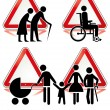 Collection of handicap signs — Vettoriali Stock