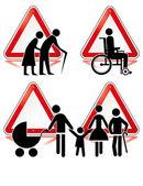 Collection des signes du handicap — Vecteur