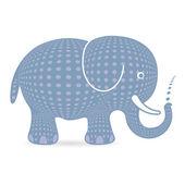 灰色字符的大象 — 图库矢量图片