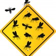 Mosquito Sign - Stock Vector