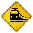 Railroad traffic road sign - Stok Vektör
