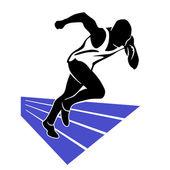Runner Sprint — Stock Vector