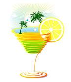 Caribbean Cocktail — Stock Vector