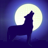 Lone wolf — Stock Vector