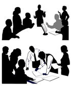 Meeting giving a presentation. — Stock Vector