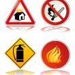 Stock Vector: Fire safety sign
