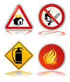 Fire safety sign — Stock Vector