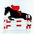 Stock Vector: Showjumping event
