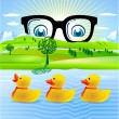 Stock Vector: All duckling