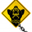 Dangerous guard dog — Imagen vectorial