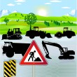 Road building — Stock Vector