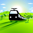 Stock Vector: To go by train