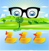 All duckling — Stock Vector