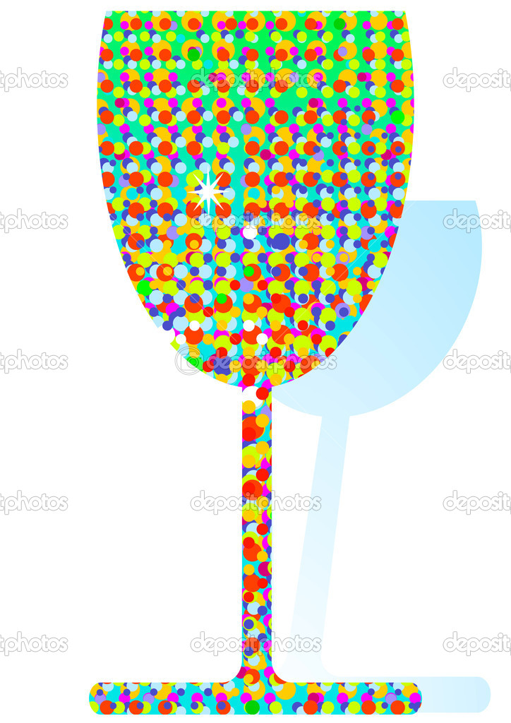 Colored confetti cocktail — Stock Vector #3802919