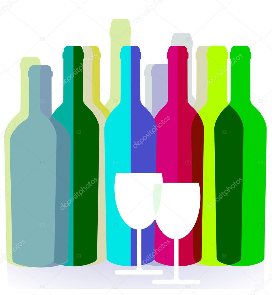 Wine bottle  Stock Vector #3815134