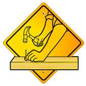 Carpenter sign — Stock Vector