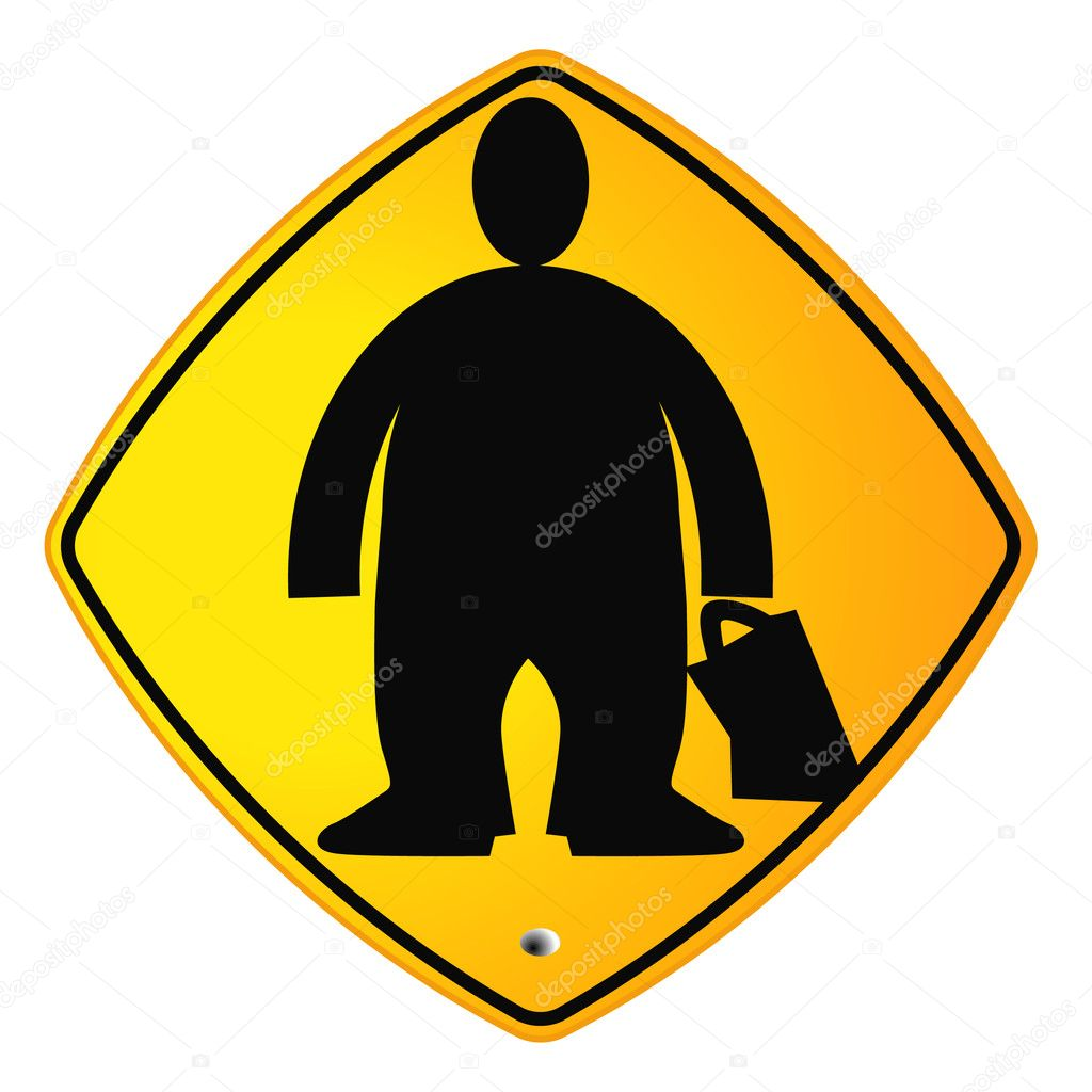 Overweight sign — Stock Vector #3887429