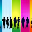 Colorful individuals — Stock Vector