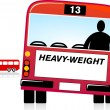 Heavy Weight — Stock Vector