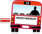 Heavy Weight — Stock Vector