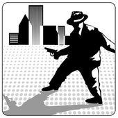 Kostým gangster — Stock vektor