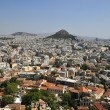 Overall view on Athens with tops — Stock Photo