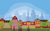Neighborhood houses — Stock Photo
