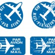 Par Avion Rubber stamp 03 - Imagen vectorial
