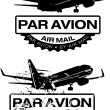 Stock Vector: Par Avion Rubber stamp