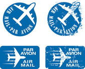 Par Avion Rubber stamp 03 — Stock Vector