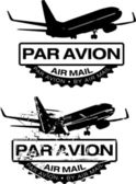Par Avion Rubber stamp — Stock Vector