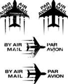 Par avion штамп 02 — Cтоковый вектор