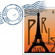 Stockvector : Postmark from france