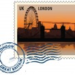 Postmark from London - Image vectorielle