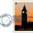 Stock Vector: Postmark from London