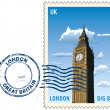 Postmark from London — Stock Vector
